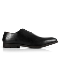 Black Wholecut Oxford Leather Shoes main shoe image