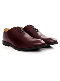 Burgundy Wholecut Oxford Leather Shoes alternate shoe image
