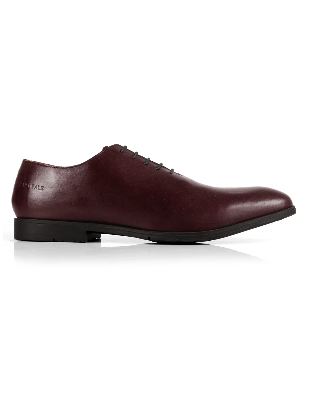 Burgundy Wholecut Oxford Leather Shoes