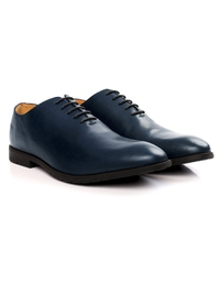 Dark Blue Wholecut Oxford Leather Shoes alternate shoe image