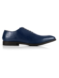Dark Blue Wholecut Oxford Leather Shoes main shoe image