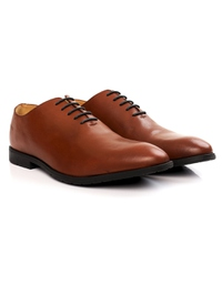 Tan Wholecut Oxford Leather Shoes alternate shoe image