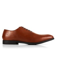 Tan Wholecut Oxford Leather Shoes main shoe image