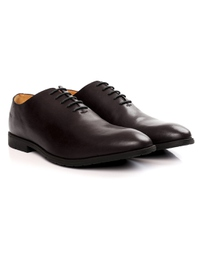 Brown Wholecut Oxford Leather Shoes alternate shoe image