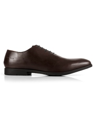 Brown Wholecut Oxford Leather Shoes shoe image