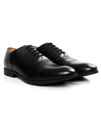 Black Toecap Oxford Leather Shoes alternate shoe image