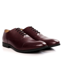 Burgundy Toecap Oxford Leather Shoes alternate shoe image
