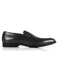 Gray Apron Halfstrap Slipon Leather Shoes shoe image