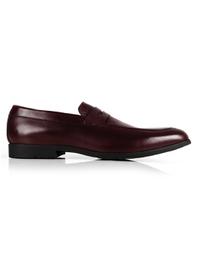 Burgundy Apron Halfstrap Slipon shoe image