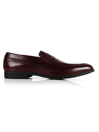 Burgundy Apron Halfstrap Slipon Leather Shoes main shoe image