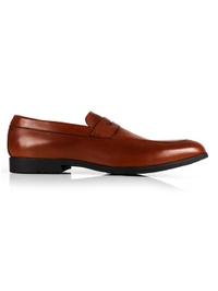Tan Apron Halfstrap Slipon Leather Shoes shoe image