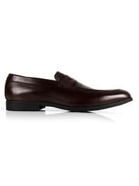 Brown Apron Halfstrap Slipon Leather Shoes main shoe image