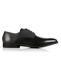 Gray and Black Plain Derby main shoe image