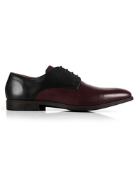 Black and Burgundy Plain Derby main shoe image