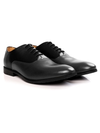 Black and Gray Plain Oxford Leather Shoes alternate shoe image