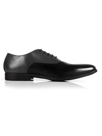 Gray and Black Plain Oxford main shoe image