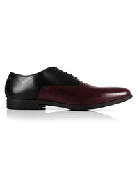 Black and Burgundy Plain Oxford main shoe image