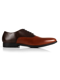 Brown and Tan Plain Oxford main shoe image