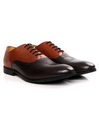 Tan and Brown Plain Oxford alternate shoe image