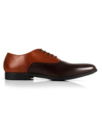 Tan and Brown Plain Oxford main shoe image