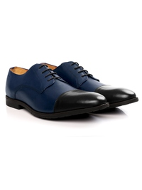 Dark Blue and Black Toecap Derby alternate shoe image
