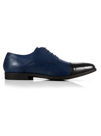 Dark Blue and Black Toecap Derby main shoe image