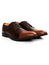 Brown and Tan Toecap Derby alternate shoe image