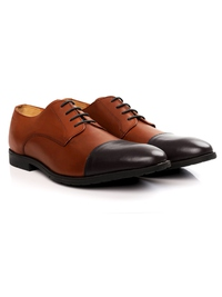 Tan and Brown Toecap Derby alternate shoe image