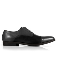 Gray and Black Toecap Derby main shoe image