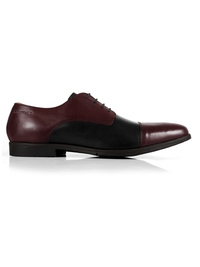 Burgundy and Black Toecap Derby main shoe image