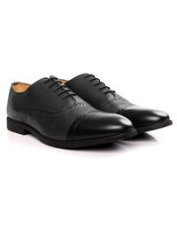 Gray and Black Quarter Brogue Oxford alternate shoe image