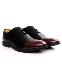 Black and Burgundy Quarter Brogue Oxford alternate shoe image