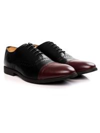 Black and Burgundy Quarter Brogue Oxford alternate shoe image