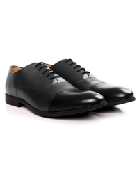 Gray and Black Toecap Oxford Leather Shoes alternate shoe image