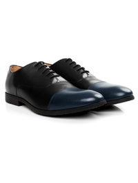 Black and Dark Blue Toecap Oxford alternate shoe image