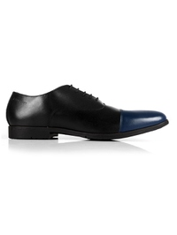 Black and Dark Blue Toecap Oxford main shoe image