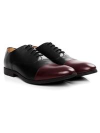 Black and Burgundy Toecap Oxford alternate shoe image