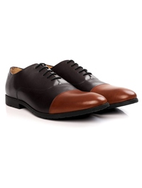 Brown and Tan Toecap Oxford alternate shoe image