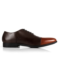 Brown and Tan Toecap Oxford main shoe image