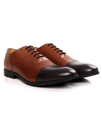Tan and Brown Toecap Oxford alternate shoe image