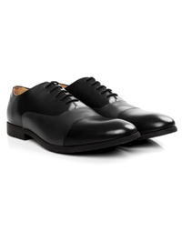 Black and Gray Toecap Oxford Leather Shoes alternate shoe image