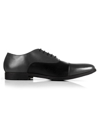 Gray and Black Toecap Oxford main shoe image