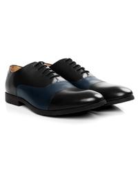 Black and Dark Blue Toecap Oxford alternate shoe image