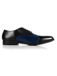 Black and Dark Blue Toecap Oxford main shoe image