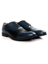 Dark Blue and Black Toecap Oxford alternate shoe image