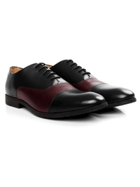 Black and Burgundy Toecap Oxford alternate shoe image