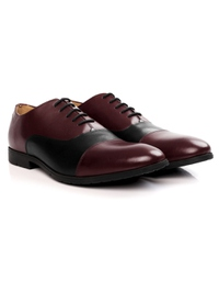 Burgundy and Black Toecap Oxford alternate shoe image