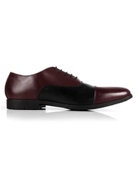 Burgundy and Black Toecap Oxford main shoe image