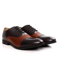 Brown and Tan Toecap Oxford alternate shoe image