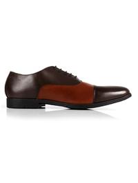 Brown and Tan Toecap Oxford main shoe image